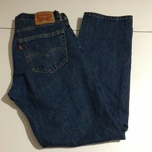 Levis 505 Mens Blue Straight Fit Jeans Size 32x30